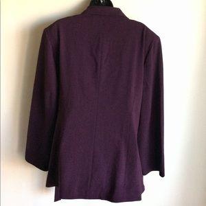 Lane Bryant Jackets & Coats - Lane Bryant Side Tie Lined Jacket Plum Size 24